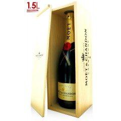 CHAMPAGNE MOET ET CHANDON - Brut Impérial - Magnum en coffret bois (France - Champagne - Champagne AOC - Champagne Blanc - 1,5